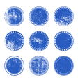 Blue Grunge Stamp Set vector image