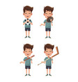 boys and sports vector image