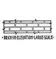 brick in elevation large scale material symbol vector image vector image