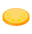 candy orange icon isometric style vector image vector image