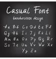 Casual handwritten font design vector image vector image