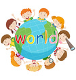 Children smiling around the world vector image