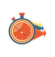 chronometer timer with arrows vector image