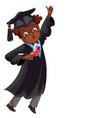 college graduation flat colorful poster congrats vector image vector image
