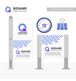 company ads banners design vector image