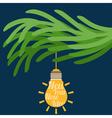 concept christmas balls bulb idea vector image vector image