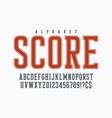 cool retro design of alphabet typeface vector image