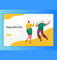 corporate party landing page template happy people vector image vector image