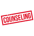 Counseling rubber stamp vector image