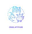 cruel attitude blue gradient concept icon vector image vector image