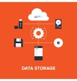 Data Storage vector image vector image