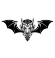 devil head with bat wings in vector image