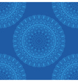 ethnic boho pattern mandala on a blue background vector image vector image