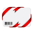 festive card with barcode vector image vector image