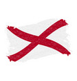 flag of alabama grunge abstract brush stroke vector image