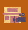 flat icon in shading style building cinema camera vector image vector image