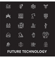 future technology editable line icons set vector image vector image