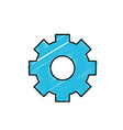 gear industry technology information icon vector image vector image
