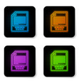 glowing neon txt file document icon download txt vector image vector image