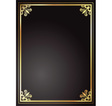 gold and black frame vector image vector image