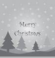 gray christmas card vector image
