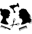 Hairdressing 1 vector image