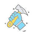 hammer hand icon design vector image