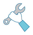 hand with wrench key isolated icon vector image vector image