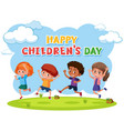 happy childrens day template vector image vector image