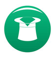 hat with napkin icon green vector image vector image