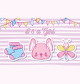 its a baby girl card vector image