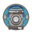 laundry washing machine logo vector image vector image