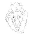 lion portrait lines vector image vector image