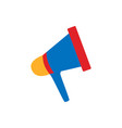 megaphone icon mouthpiece symbol loudspeaker vector image
