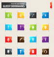 microphone bookmark icons vector image
