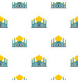 muslim mosque pattern flat vector image vector image