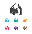 of transport symbol on fixing vector image
