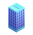 office building icon isometric style vector image vector image