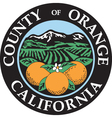 Orange county seal vector image vector image