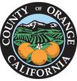 Orange county seal vector image