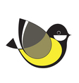Original Stylized Tomtit vector image vector image