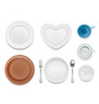 plate set top view vector image vector image