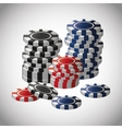 Poker design game and chips concept casino vector image vector image
