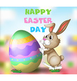 Poster design with easter theme vector image vector image