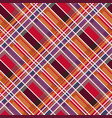 rhombic tartan fabric seamless texture in warm vector image vector image