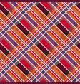 rhombic tartan fabric seamless texture in warm vector image vector image