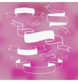 Ribbon banners on pink background vector image vector image