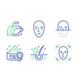serum oil cream and mint tea icons set face vector image vector image