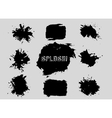set grunge shapes banners vector image vector image