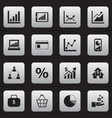set of 16 editable analytics icons includes vector image vector image